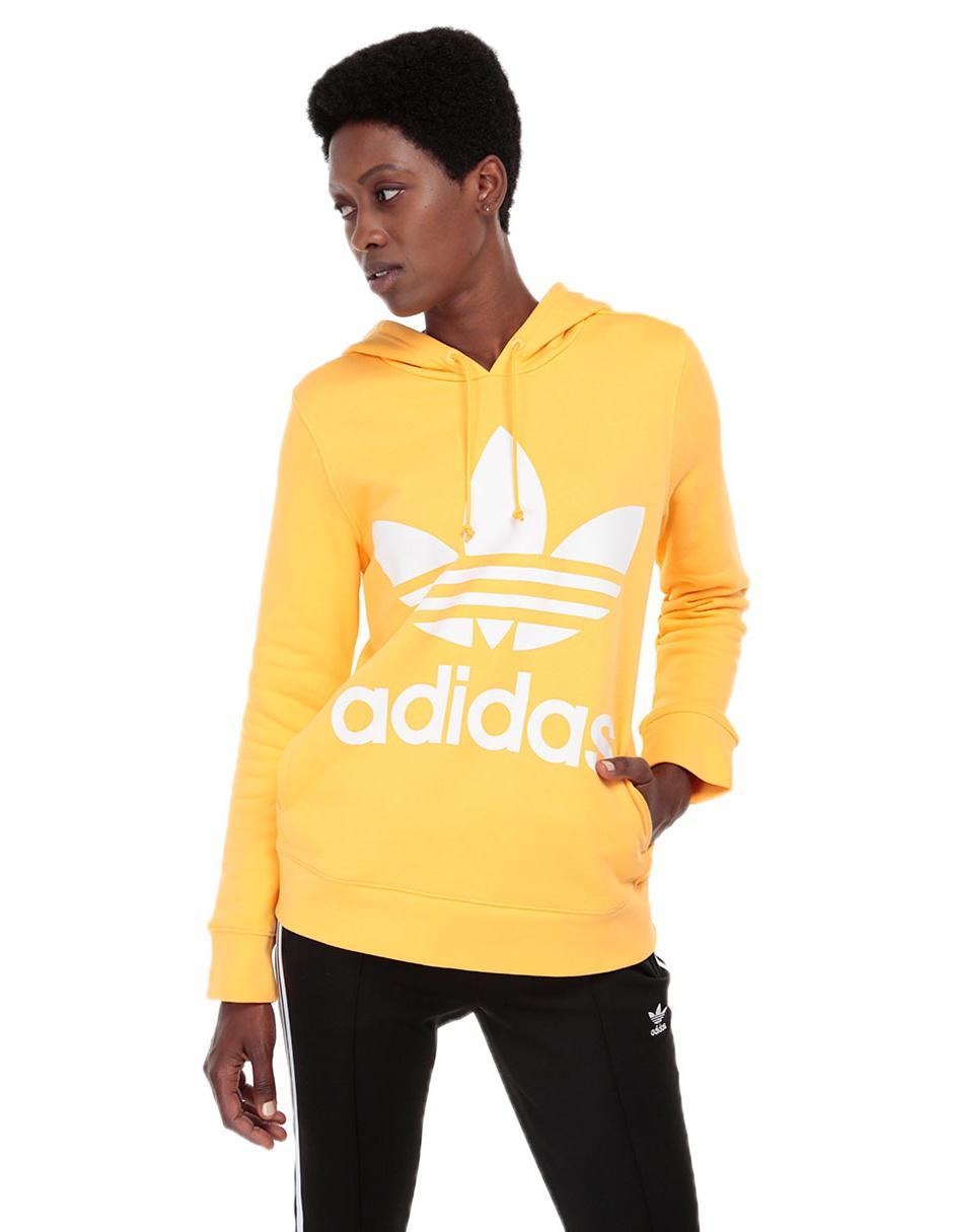 Originals Logotipo Sudadera Amarilla Qbwpxse6 Adidas Algodón xApw4Pq70A