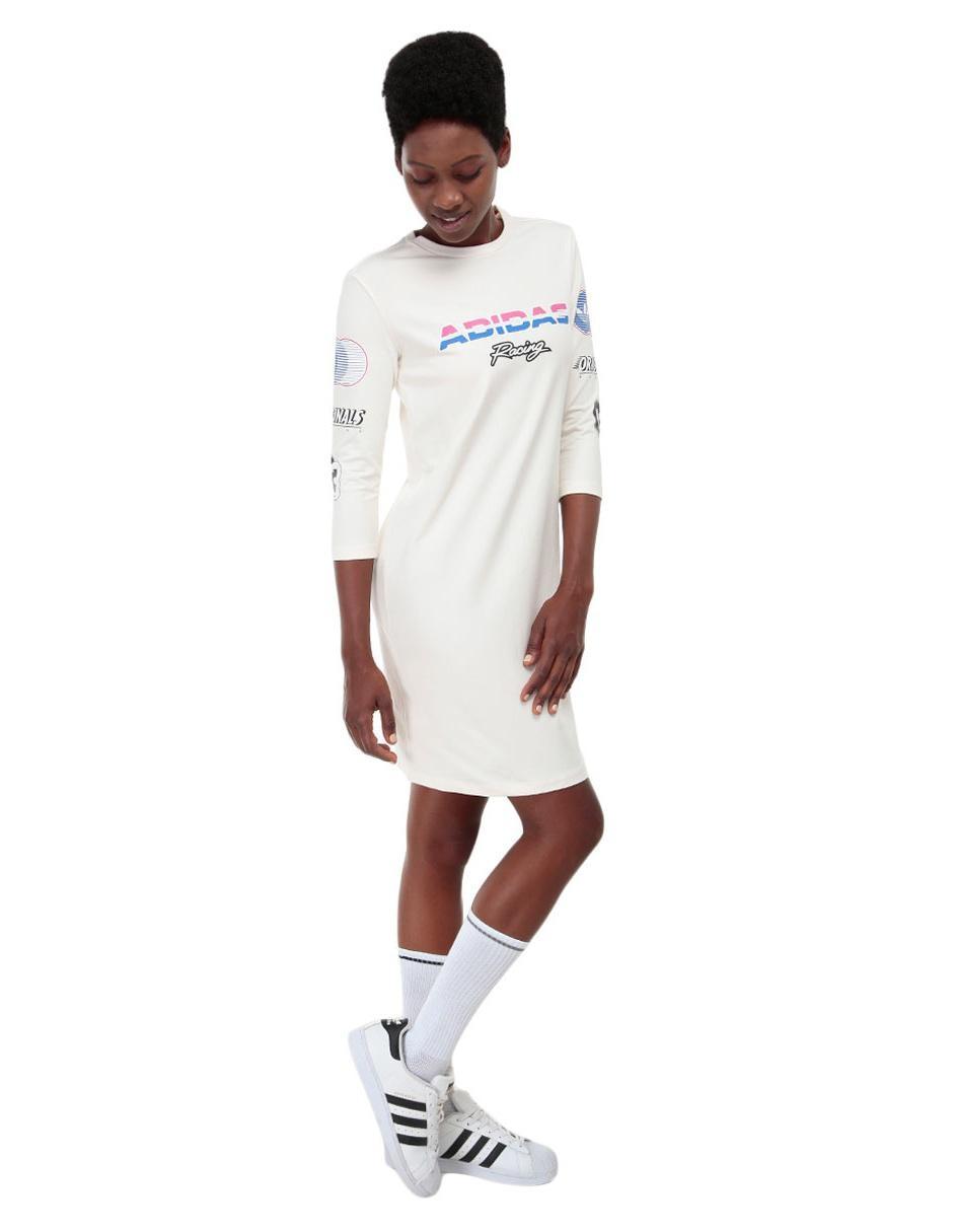Vestido liso Adidas Originals algodón vino en Liverpool