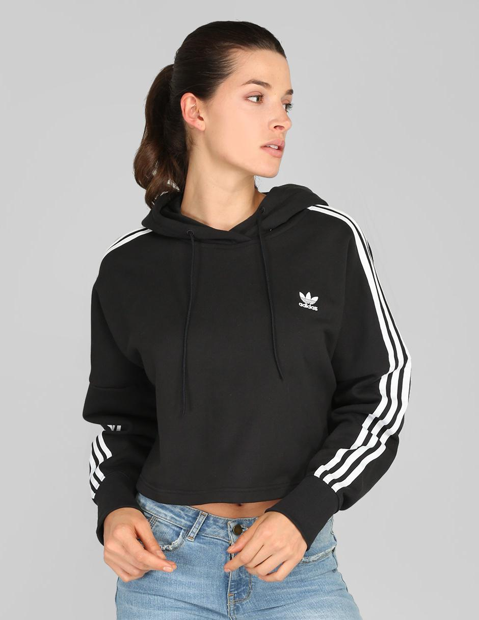 Sudadera Adidas Originals negra corte cropped