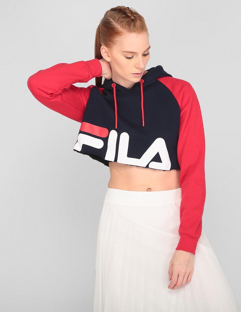 Sudadera Fila roja con logotipo